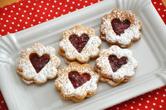 Biscuits de Linzer Images stock