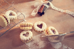 Biscuits de Linzer photos stock