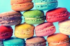 Biscuits de macaron Photos libres de droits