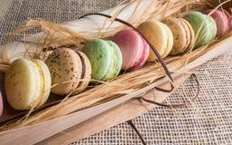 Biscuits de macaron image libre de droits