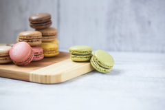 Biscuits de Macaron photographie stock