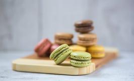Biscuits de Macaron photos stock