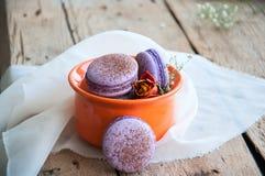 Biscuits de Macaron Photo stock