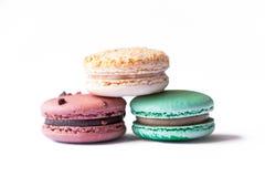Biscuits de Macaron de Français Images libres de droits