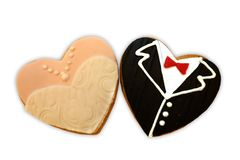 Biscuits de mariage Photo stock