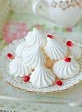 Biscuits de meringue Photos libres de droits