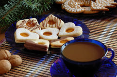 Biscuits de Noël Image stock