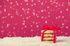 Biscuits de Noël Images libres de droits