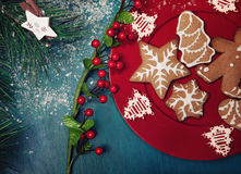 Biscuits de Noël Images stock