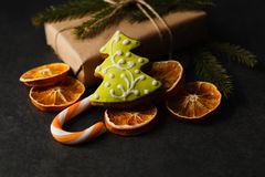 Biscuits de Noël avec de la cannelle Image stock
