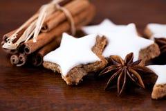 Biscuits de Noël avec des épices Images libres de droits