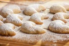 Biscuits de Noël avec la vanille Photos libres de droits