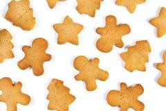 Biscuits de Noël d'isolement Images stock