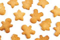 Biscuits de Noël d'isolement Photographie stock