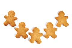 Biscuits de Noël d'isolement Photo libre de droits