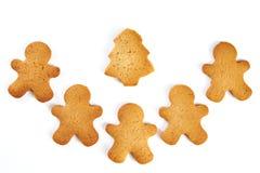 Biscuits de Noël d'isolement Image libre de droits