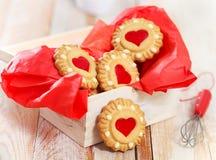 Biscuits de Noël dans la boîte Image stock