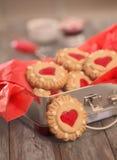Biscuits de Noël dans la boîte Photos libres de droits