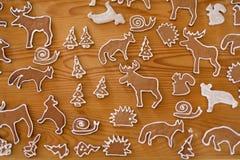 Biscuits de Noël de pain d'épice Images stock