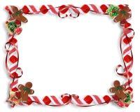 Biscuits de Noël et trame de sucrerie Image stock