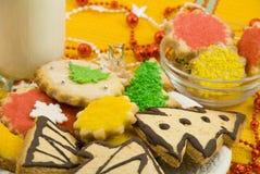 Biscuits de Noël pour Santa Image stock