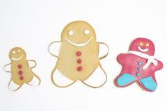Biscuits de Noël sur le fond blanc images stock
