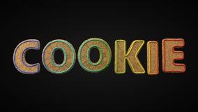Biscuits de Noël texte dénommé par biscuit illustration 3D illustration libre de droits