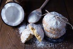 Biscuits de noix de coco Photos libres de droits