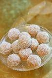 Biscuits de noix de coco Images libres de droits