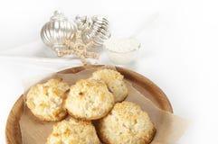 Biscuits de noix de coco Image libre de droits