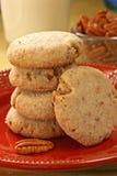 Biscuits de noix de pécan de beurre Photographie stock