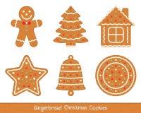 Biscuits de Noël de pain d'épice Photos stock