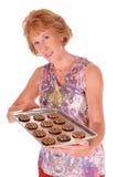 Biscuits de offre de Woamn Images libres de droits