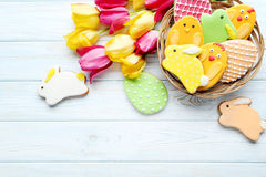 Biscuits de Pâques image libre de droits