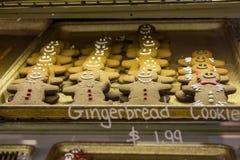 Biscuits de pain d'épice à vendre dans St Lawrence Market, Toronto Images stock