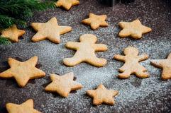 Biscuits de pain d'épice Images libres de droits