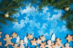 Biscuits de pain d'épice Photo libre de droits