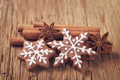Biscuits de pain d'épice Image libre de droits