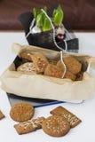 Biscuits de pain d'épice dans la boîte Images stock