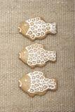 Biscuits de pain d'épice de Noël. Images libres de droits