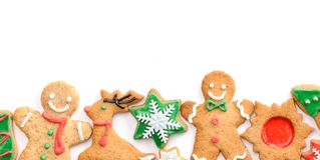 Biscuits de pain d'épice de Noël Image libre de droits