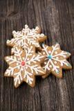 Biscuits de pain d'épice de Noël Photographie stock