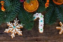Biscuits de pain d'épice de Noël Photographie stock libre de droits