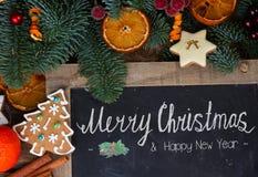 Biscuits de pain d'épice de Noël Photos libres de droits