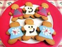 Biscuits de pain d'épice de vacances de Noël image libre de droits