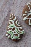 Biscuits de pain d'épice de Noël Images stock