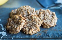 Biscuits de Paleo de banane Photographie stock libre de droits