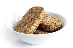 Biscuits de petit déjeuner de blé entier image libre de droits