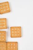 biscuits de plan rapproché d'isolement photo libre de droits