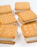biscuits de plan rapproché d'isolement photographie stock